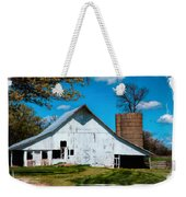 Old White Barn With Treed Silo Weekender Tote Bag