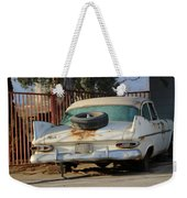 Old White Plymouth In Natural Sunset Weekender Tote Bag