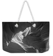 Old Woman In The Canyon Black And White Weekender Tote Bag