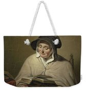 Old Woman Reading, Cornelis Kruseman, 1820 - 1833 Weekender Tote Bag