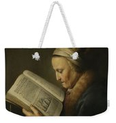 Old Woman Reading Weekender Tote Bag