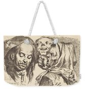 Old Woman Scolding A Man Weekender Tote Bag