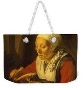 Old Woman Unreeling Threads 1665 Weekender Tote Bag