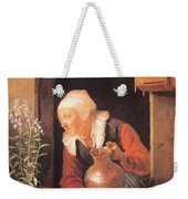 Old Woman Watering Flowers 1665 Weekender Tote Bag