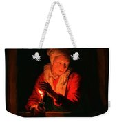 Old Woman With A Candle Weekender Tote Bag