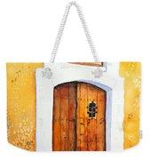 Old Wood Door Arch And Shutters Weekender Tote Bag