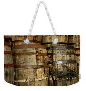 Old Wood Whiskey Barrels Weekender Tote Bag