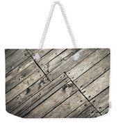 Old Wooden Boards Nailed Weekender Tote Bag