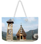 Old Wooden Church And Bell Tower Weekender Tote Bag