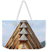 Old Wooden Church On Mountain Weekender Tote Bag