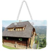 Old Wooden House On Mountain Weekender Tote Bag