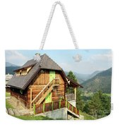 Old Wooden House On Mountain Landscape Weekender Tote Bag