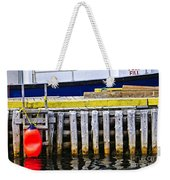 Old Wooden Pier In Newfoundland Weekender Tote Bag