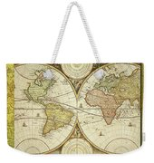 Old World Map On Gold Weekender Tote Bag