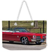 Oldsmobile Delta Royale 88 Red Convertible Weekender Tote Bag