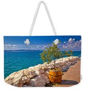 Olive Tree In Barrel By The Sea Weekender Tote Bag