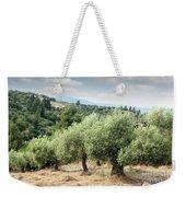 Olive Trees Hill Weekender Tote Bag