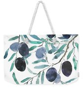 Olive Watercolor 2018 Weekender Tote Bag