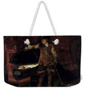 Oliver Cromwell Opening The Coffin Of Charles I  Weekender Tote Bag