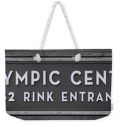 Olympic Center 1932 Rink Entrance - Monochrome Weekender Tote Bag