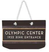 Olympic Center 1932 Rink Entrance Weekender Tote Bag