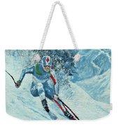 Olympic Downhill Skier Weekender Tote Bag