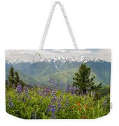 Olympic Mountain Wildflowers Weekender Tote Bag