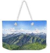 Olympic Mountains Weekender Tote Bag