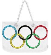 Olympic Rings Pencil Weekender Tote Bag