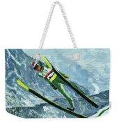Olympic Ski Jumper Weekender Tote Bag