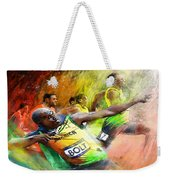Olympics 100 M Gold Medal Usain Bolt Weekender Tote Bag