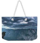 Ominous Clouds Over Glacier Point Weekender Tote Bag