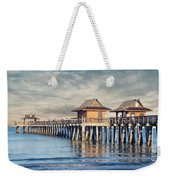 On A Cloudy Day At Naples Pier Weekender Tote Bag