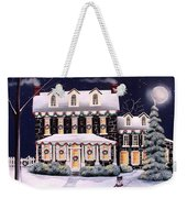 On A Cold Winter Evening Weekender Tote Bag
