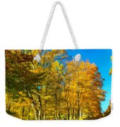 On A Country Road 4 - Paint Weekender Tote Bag