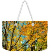 On A Country Road 5 - Paint Weekender Tote Bag