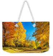 On A Country Road 6 - Paint Weekender Tote Bag