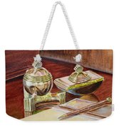 On A Desk At Eugene O Neill Tao House Weekender Tote Bag