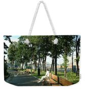 On A Moscow Bench Weekender Tote Bag