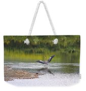 On A Stroll In The River Weekender Tote Bag