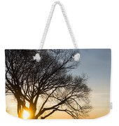 On Fire - Bright Sunrise Through The Willows Weekender Tote Bag