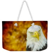 On Fire The American Bald Eagle Weekender Tote Bag