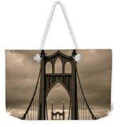 On St Johns Bridge Weekender Tote Bag
