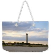 On The Beach At Cape May Lighthouse Weekender Tote Bag