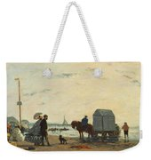 On The Beach At Trouville Weekender Tote Bag