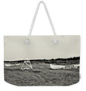 On The Beach - Avalon New Jersey In Sepia Weekender Tote Bag