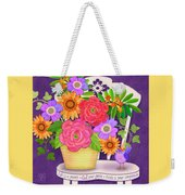 On The Bright Side - Flowers Of Faith Weekender Tote Bag