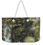 On The Castle Wall, Exeter Weekender Tote Bag