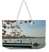 On The Cherry Blossom Dock Weekender Tote Bag