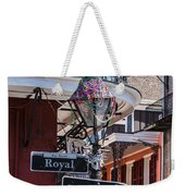 On The Corner Of Royal Street Weekender Tote Bag